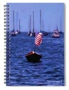 Leader Of The Pack- Bristol Rhode Island Oil Effect Spiral Notebook