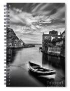 Leading Light At Staithes Spiral Notebook