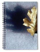 Leaf On Snow Spiral Notebook