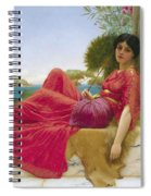 Leaning Against A Column Spiral Notebook
