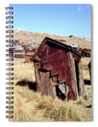 Leaning Bodie Outhouse Spiral Notebook
