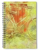 Leaning In Bicycle Spiral Notebook
