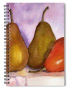 Leaning Pear Spiral Notebook