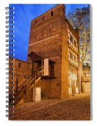 Leaning Tower By Night In Torun Spiral Notebook