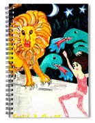 Leap Away From The Lion Spiral Notebook