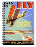Learn To Fly Vintage Poster Restored Spiral Notebook