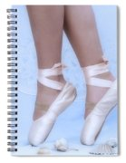 Learning To Walk In Dance World With Pink Pointe Shoes Spiral Notebook