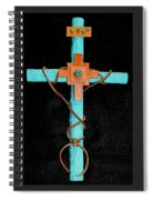 Leather And Stone Cross Spiral Notebook