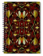 Leather In Floral Harmony And Peace Spiral Notebook