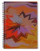 Leaves Abstract - Autumn Motif Spiral Notebook