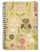Leaves And Flowers From Nature Spiral Notebook