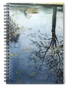 Leaves And Reeds On Tree Reflection Spiral Notebook