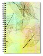Leaves Background Spiral Notebook