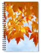 Leaves Nature Art Orange Autumn Tree Leaves Spiral Notebook