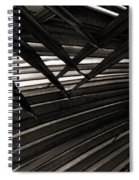 Leaves Of Palm Black And White Spiral Notebook