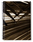 Leaves Of Palm Sepia Spiral Notebook