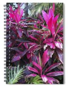 Leaves Of Pink Spiral Notebook