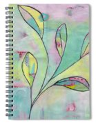 Leaves On Abstract Background Spiral Notebook