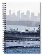 Diamond Princess Leaving Sydney Spiral Notebook