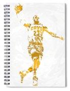 Lebron James Cleveland Cavaliers Pixel Art 12 Spiral Notebook
