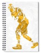 Lebron James Cleveland Cavaliers Pixel Art 13 Spiral Notebook