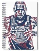 Lebron James Cleveland Cavaliers Pixel Art 54 Spiral Notebook