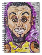 Lebron James Los Angeles Lakers Spiral Notebook