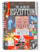 Led Zeppelin Color Collage Spiral Notebook