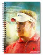 Lee Westwood Winning The Portugal Masters 2009 Spiral Notebook
