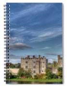 Leeds Castle And Moat Rear View Spiral Notebook