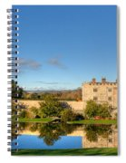 Leeds Castle And Moat Reflections Spiral Notebook