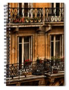 Left Bank Balconies Spiral Notebook