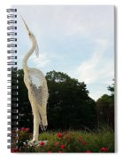 Left Crane Spiral Notebook
