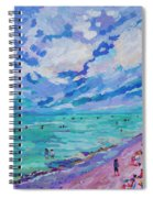 Left Panel Of Triptych Busy Relaxing Spiral Notebook