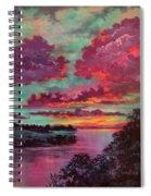Legend Of A Sunset Spiral Notebook