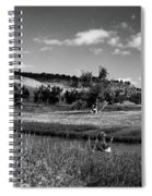 Legend Of The Bear Wyoming Devils Tower Panorama Bw Spiral Notebook