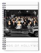 Legends Of Hollywood Poster Spiral Notebook