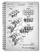 Lego Toy Building Brick Patent Spiral Notebook