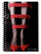 Legs In Red Ropes Spiral Notebook