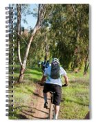 Leisure Cross Contry Cyclists Spiral Notebook