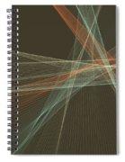 Lemans Computer Graphic Line Pattern Spiral Notebook
