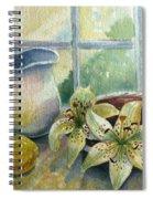 Lemon And Lillies Spiral Notebook