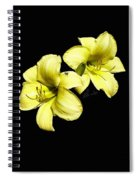 Lemon Lilies Spiral Notebook