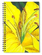 Lemon Lily Spiral Notebook