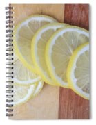 Lemon Slices On Cutting Board Spiral Notebook