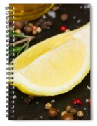Lemon With Spices  Spiral Notebook