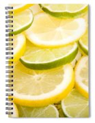 Lemons And Limes Spiral Notebook