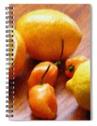 Lemons And Peppers Spiral Notebook