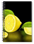 Lemons-black Spiral Notebook