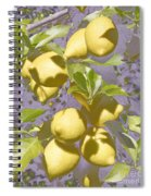 Lemons Purple Pastel Spiral Notebook